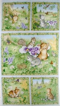 Patchworkstoff Ostern Panel Hase Bunnys day out 60x110cm