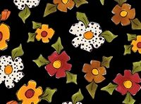 Patchworkstoff Loralie Harris Spice Cats Large Flowers