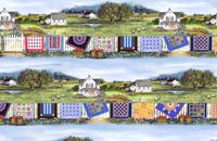 Patchworkstoff Country Quilts Border Stoff Streifen Bordüre