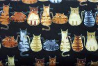 Katzenstoff 50cm x 110cm Patchwork Mietze