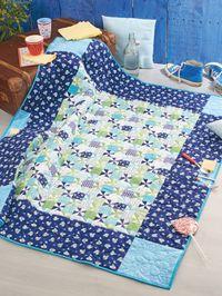 Materialpackung B `Lust auf Picknick?` Quilt Picknick Decke Tagesdecke 1,27m x 1,45m