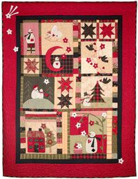 Nähanleitung `Catch a Christmas Star` Quilt v. Bunny Hill Design 1,22m x 1,32m