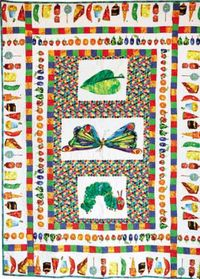 Kostenlose Nähanleitung Quilt Hungrige Raupe `Hungry Caterpillar` by Jenny Stafford