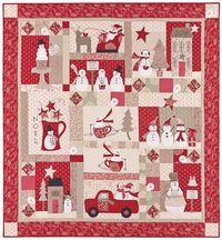 Merry Merry Snowman Quilt Anleitung von Bunny Hill Design 1,57m x 1,67