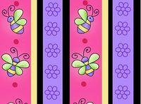 Patchworkstoff Stoff Quilt Blumen und Bienen Streifen