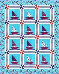 Kostenlose Nähanleitung für Quilt Barnegat BaynDesigned by Heidi Pridemorenfor Marcus Fabrics