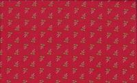 Patchworkstoff Stoff Quilt Bella Bliss rote Blumen auf hellrot