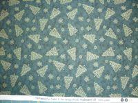 Patchworkstoff Stoff Quilt 738 Festive Fun Trees the Henley Studio Tannen auf grün 30x110cm
