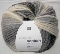 Creative Bonbon Super Chunky Wolle Rico multi grau 100g 383084.002