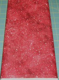 Patchworkstoff Stoff Quilt *Woodsy Winter* Schneefall mit silber auf rot