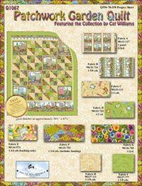 Kostenlose Nähanleitung Quilt `Patchwork Garden` von Cat Williams für SSI