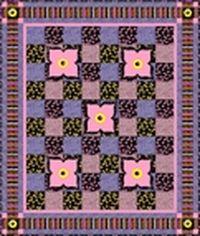 Kostenlose Nähanleitung für Quilt `Kates Garden` von Kate Knight für QT