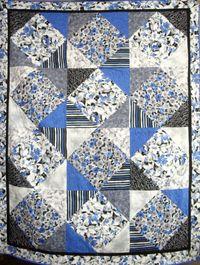 Materialpackung `Fantasia` mit Nähanleitung in dt. blau / schwarz 1,55x1,98cm