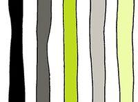 Patchworkstoff Fantasia Stripes grün schwarz weiss Streifen