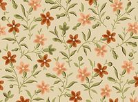 Patchworkstoff Quilt Stoff Dark Tan - Posey - Ranken Blumen