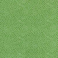Patchworkstoff Apple Garden Pindot - grün mit weißen Punkten