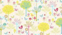 Patchworkstoff Quilt Stoff Flos Garden green Szene