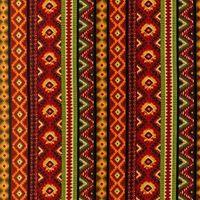 Baumwollstoff *Santa Fe Spice* Streifen Zacken Karos orange grün rot schwarz RK-10839-115