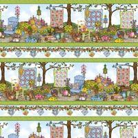 Stoff Patchwork Garden von Cat Williams, Nähen Quilts im Garden Streifen