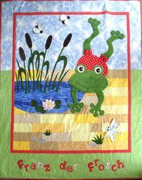 Nähanleitung `Franz der Frosch` Quilt Kinder