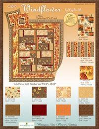 Kostenlose Nähanleitung Quilt `Windflower in orange` von Daphne B