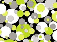 Patchworkstoff Contempo Dots grosse und kleine Punkte schwarz grün weiss Reststück von 0,70 x 1,10 m
