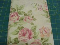 Patchworkstoff Stoff Quilt Roses grossblumige Rosen auf beige 30x110cm