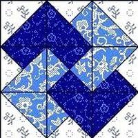 Quilt Block Dezember 12,5 inch Quadrat CARD TRICK