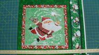 Patchworkstoff Quilt Stoff Kissen Panel Weihnachten Schneemann 44x55cm