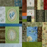 Gundis Garden Quilt Block 1 Materialpackung mit Anleitung