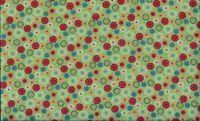 Patchworkstoff Stoff Quilt Space Starburst bunte abstrakte Kreise auf hellgrün