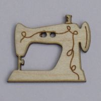 Knopf, Holzknopf Nähmaschine 20mm