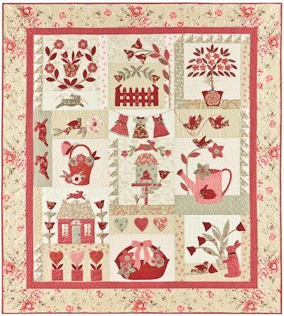 Le Jardin Quilt Anleitung von Bunny Hill Design 1,50m x 1,65m