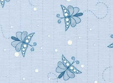 Patchworkstoff Stoff Quilt Life is beautiful hellblau