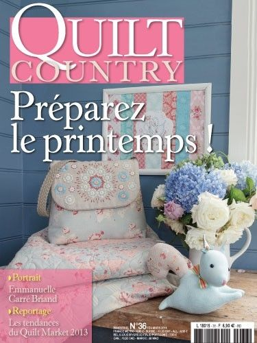 Patchwork Magazin Quilt Country 36 - Préparez le printemps