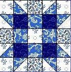 Quilt Block August 12,5 inch Quadrat SISTER`S CHOICE