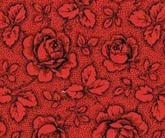 Patchworkstoff Westfalen Serie Rosengarten; rot-schwarz 150cm
