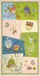 Patchworkstoff Quilt Stoff Panel Night Owl Eule