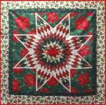 Materialpackung  Wandquilt *CHRISTMAS STAR* ca. 109 x 109 cm MP21-0115