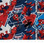 Patchworkstoff *Ultimate Spiderman* Marvel rot blau schwarz SW80202