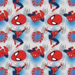 Patchworkstoff *Ultimate Spiderman* Marvel weiß rot blau schwarz SW802033