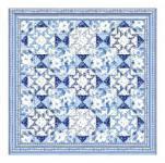 Kostenlose Nähanleitung für ein Quilt Oriental Blue
