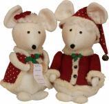 Materialpackung `Merry Christmice` 2 Stück Weihnachtsmäuse