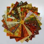 Stoffpaket 25 Quadrate 5 x 5 Inch/ 12,7 x 12,7 cm Herbst rot braun orange grün SP21-0009