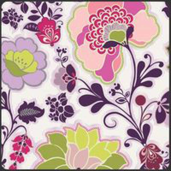 Patchworkstoff Stoff Quilt Poetica Style Sweet Melody Pure bunte Blumen