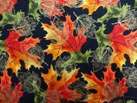 Patchworkstoff Quilt Stoff Autumn Leaves Blätter Herbst