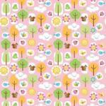 Patchworkstoff Quilt Stoff Flanell Mother Nature girl rosa
