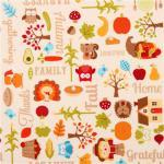 Patchworkstoff Quilt Stoff Happy Harvest Thanks Giving Herbst