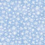 Patchworkstoff Quilt Stoff `Sleigh Ride` Schneeflocken hellblau