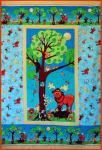Materialpackung Kinder Quilt `Forest Friends`104x160cm